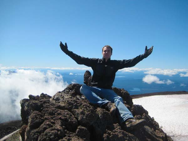 On top of the South Sister in Central Oregon
