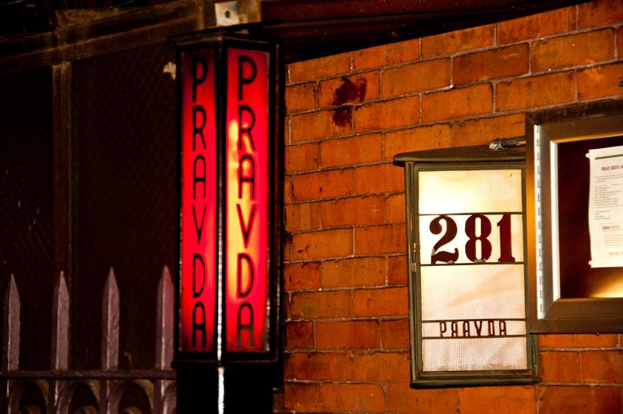 Pravda Russian Speak Easy near Soho in NYC