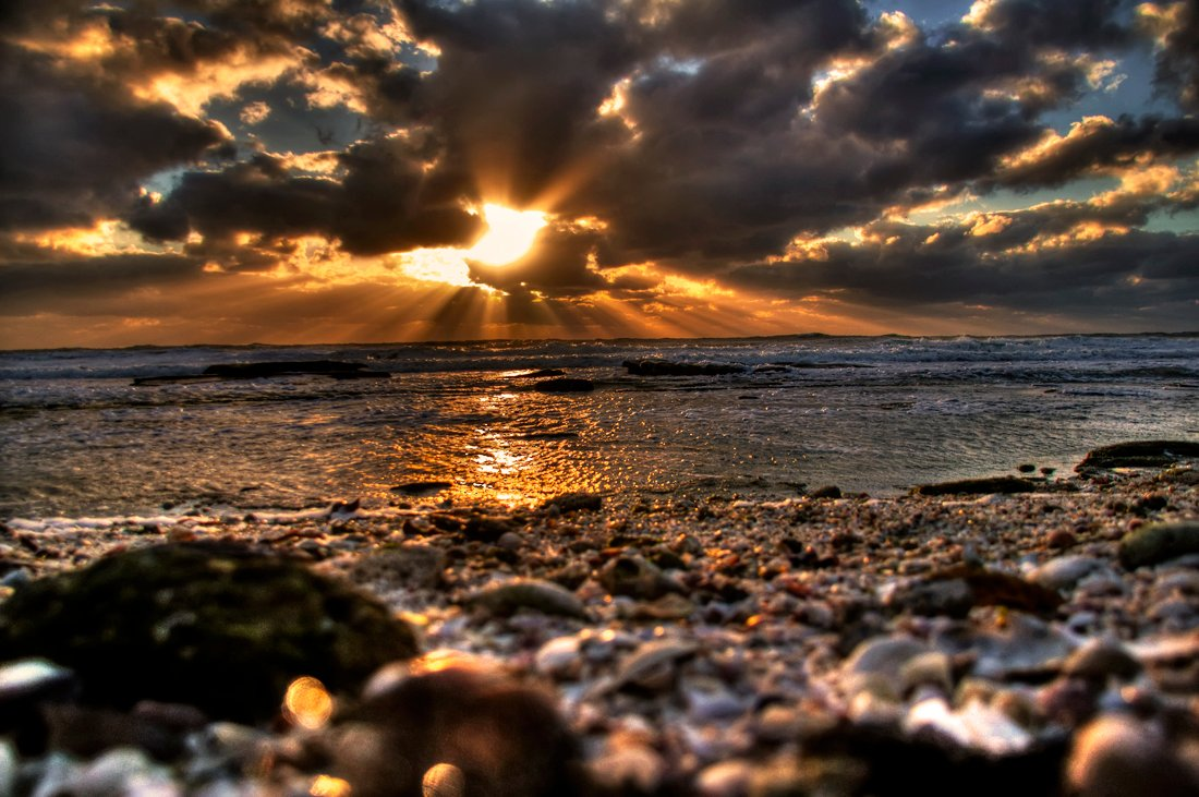 HDR Photo of a beach on Siesta Key in Sarasota, Florida