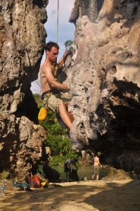 sean ogle rock climbing in thailand