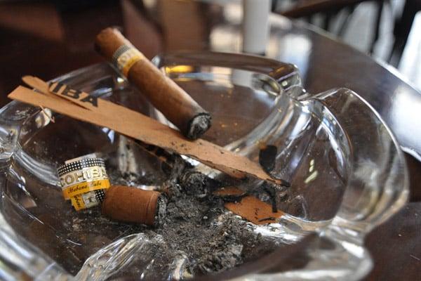 A couple Cuban Cohibas at Hotel Ambos Mundos