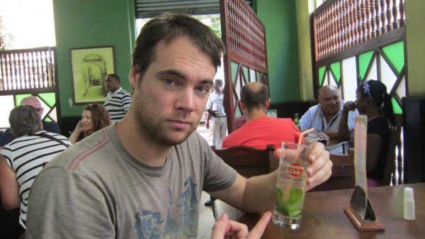 Having a mojito in Havana, Cuba