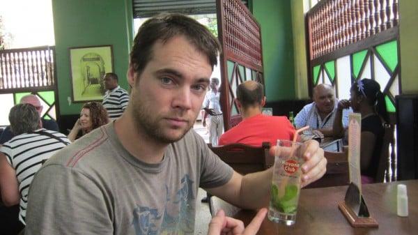 Having a mojito in Havana, Cuba