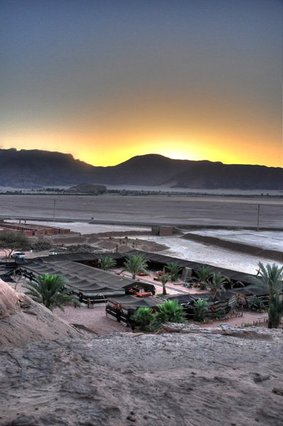 Sunrise at Bedouin Camp in Wadi Rum, Jordan