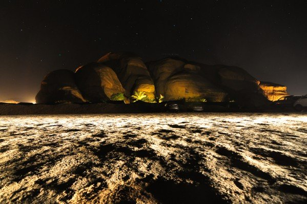 Wadi Rum Desert at Night