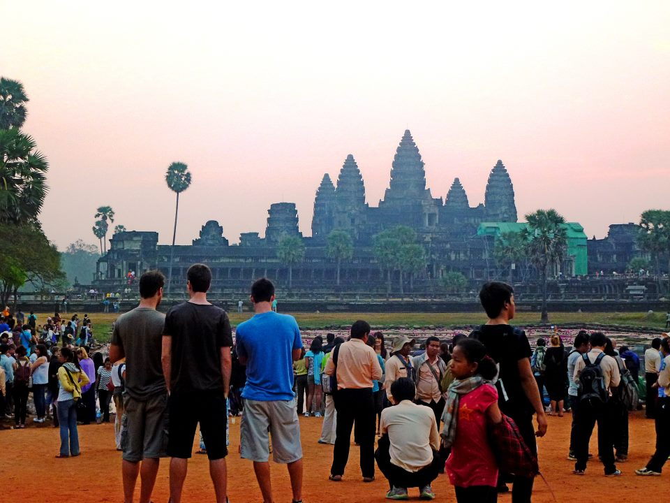 What sunrise at Angkor Wat really looks like.
