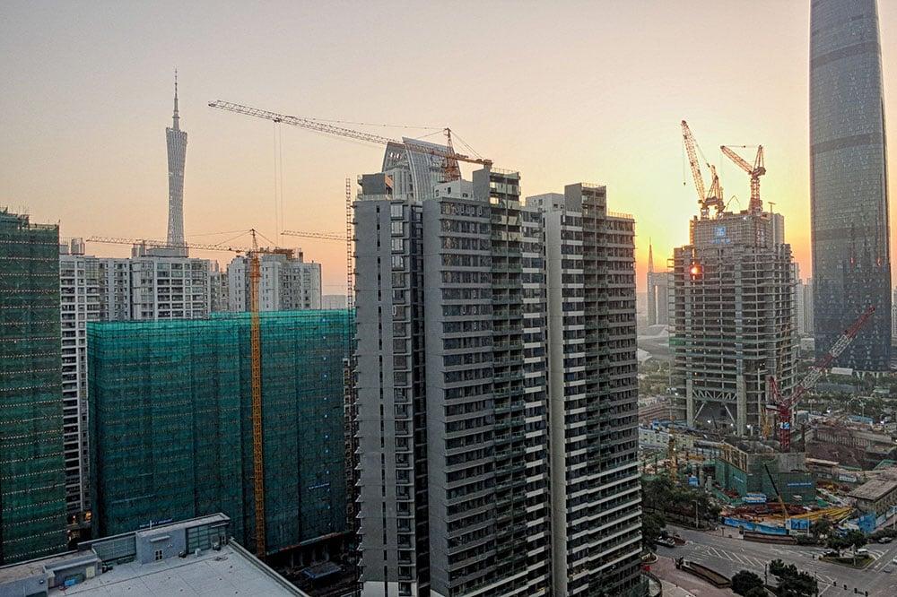 Sunset in Guangzhou, China