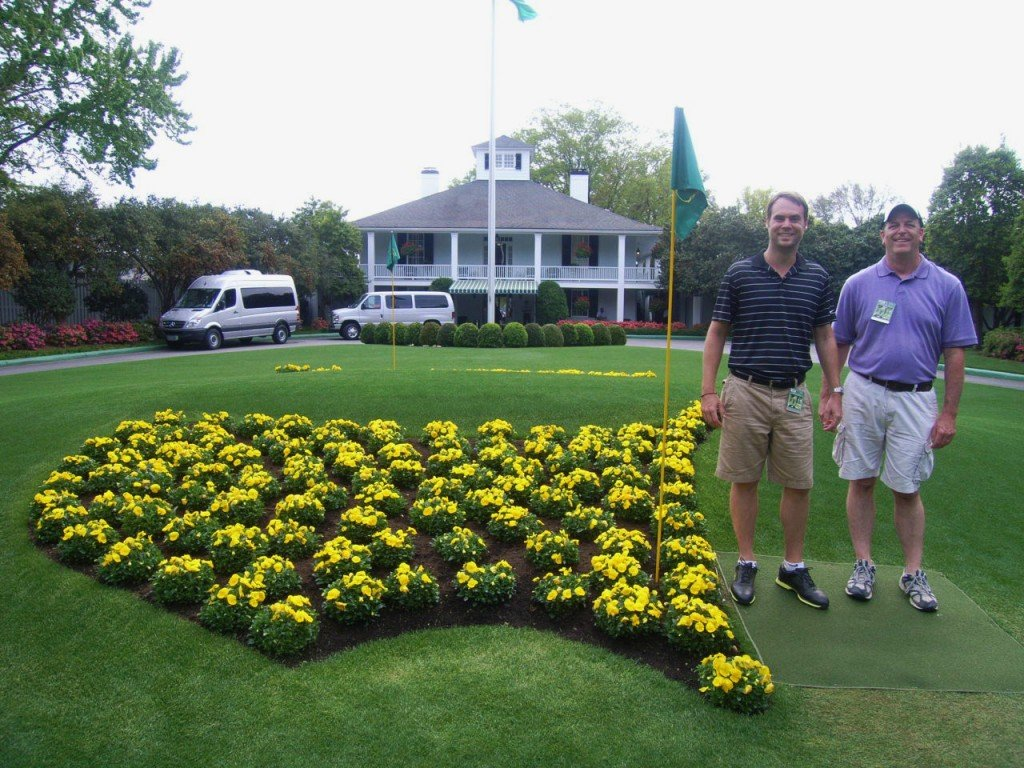 I haven't gotten to play the course yet, but because of this blog, I was invited to the Masters by L180 reader and now friend, Gene. Then he invited me back.