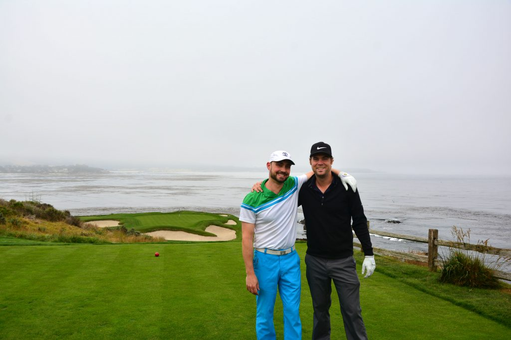 My buddy Dan and I on the 7th at Pebble Beach.