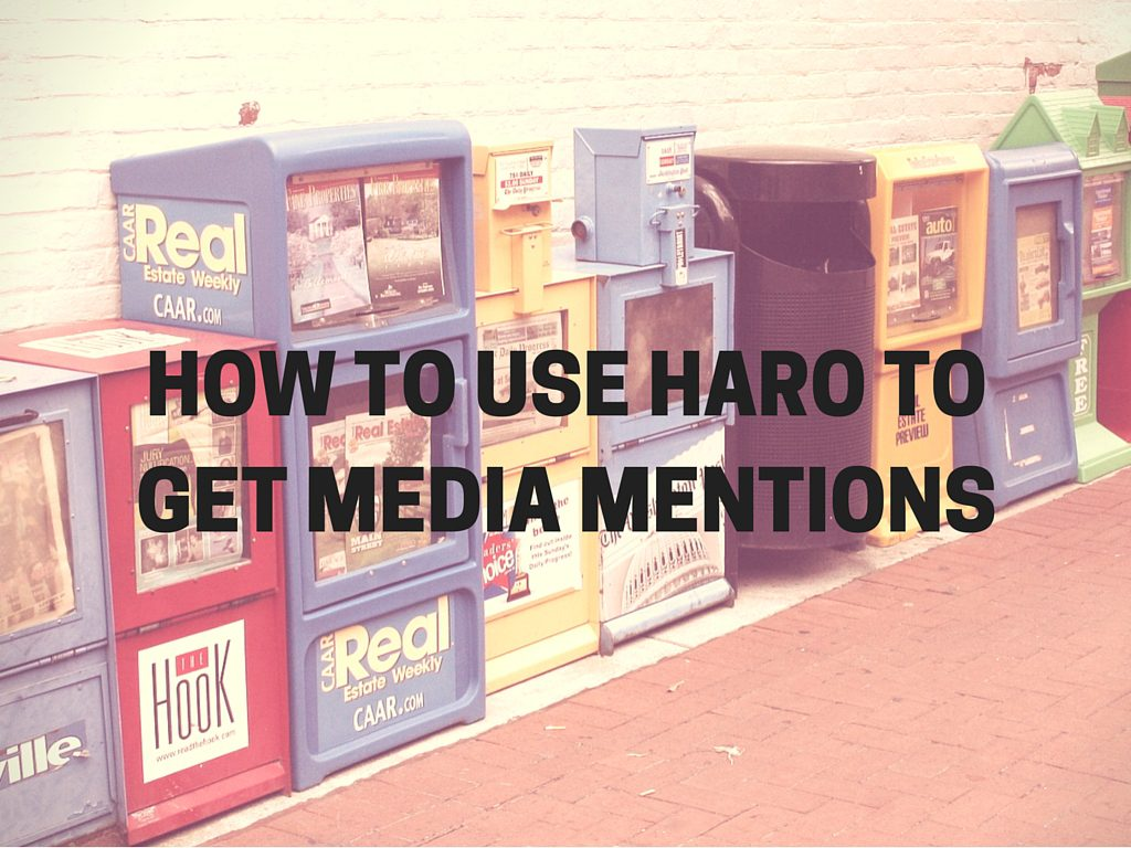 How to Use HARO help a reporter out