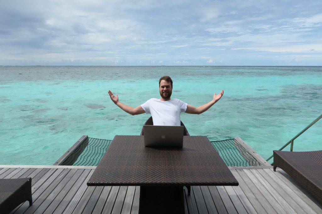 My Maldivian Office from a couple weeks ago.