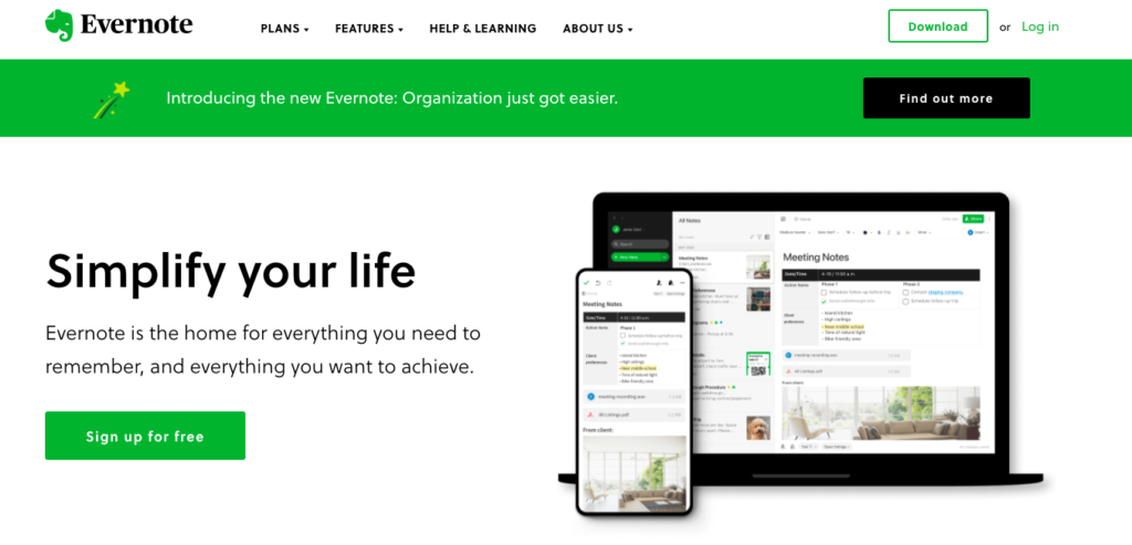 remote productivity tools evernote