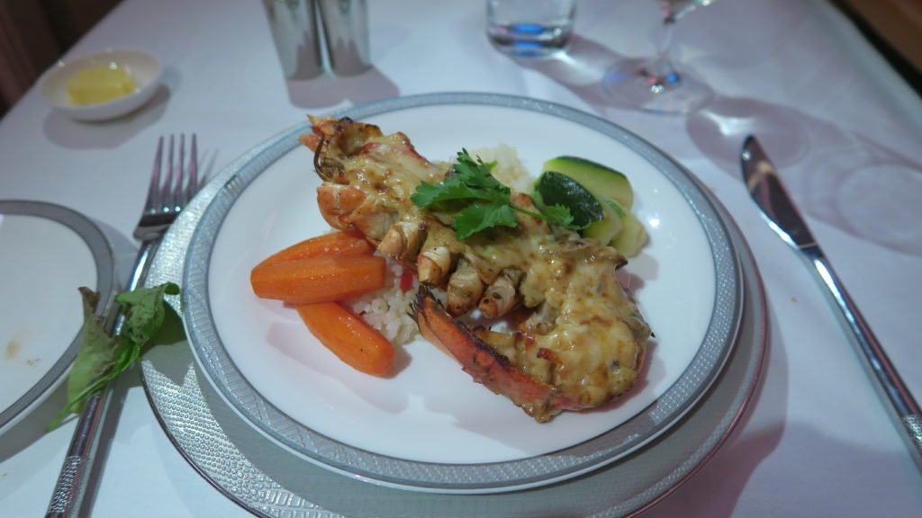 Lobster Thermidor on Singapore Suites Class