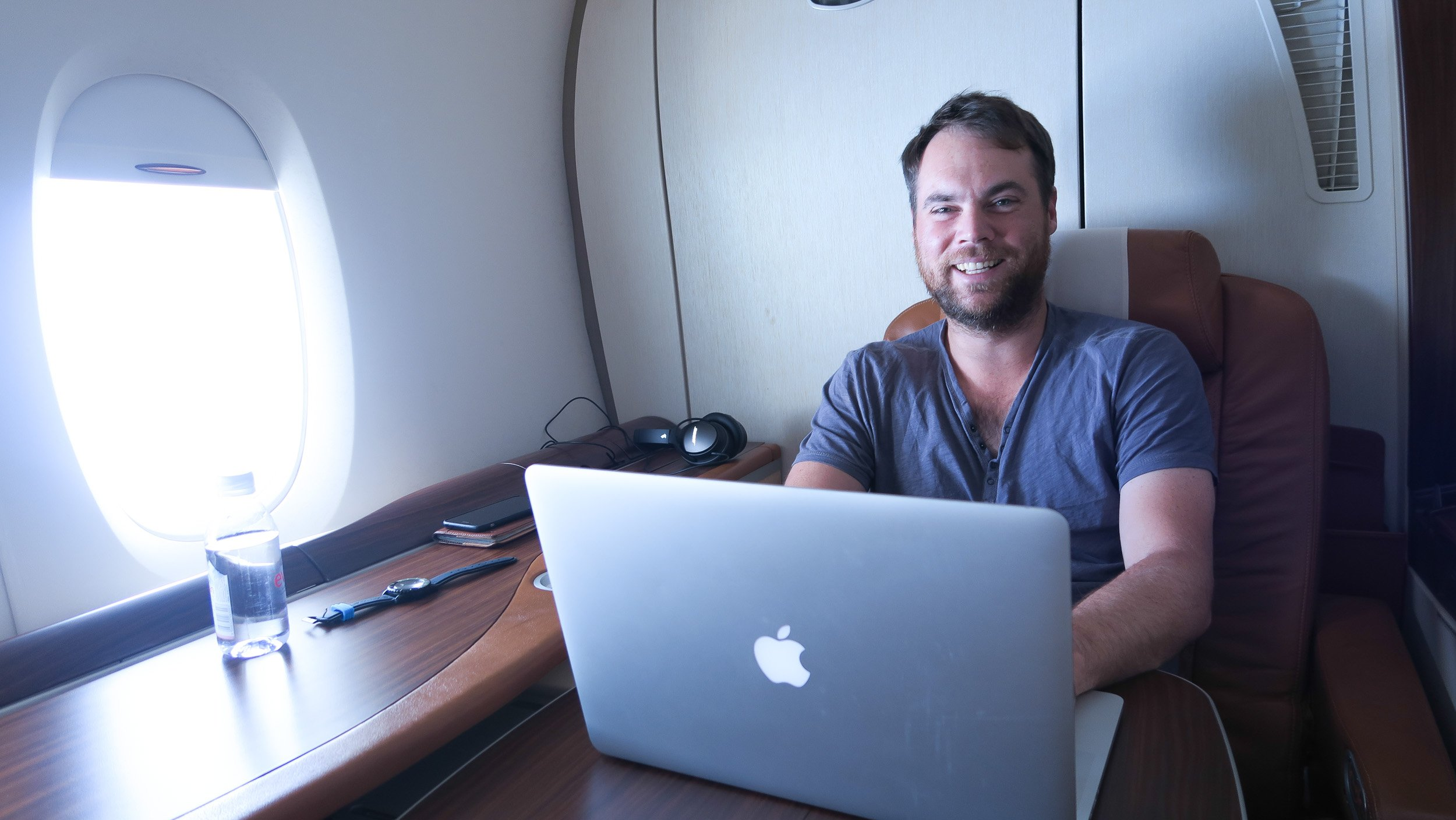 Sean Ogle on Singapore Airlines Suites Class