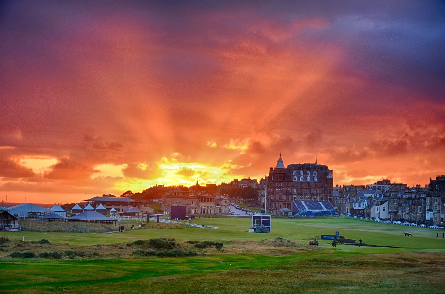 The Old Course Hotel at St. Andrews at Sunrise.