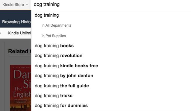 dog training kindle publishing
