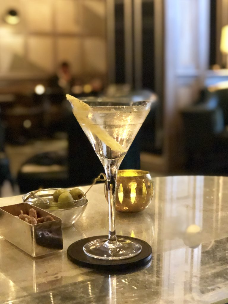 The famous Connaught Martini