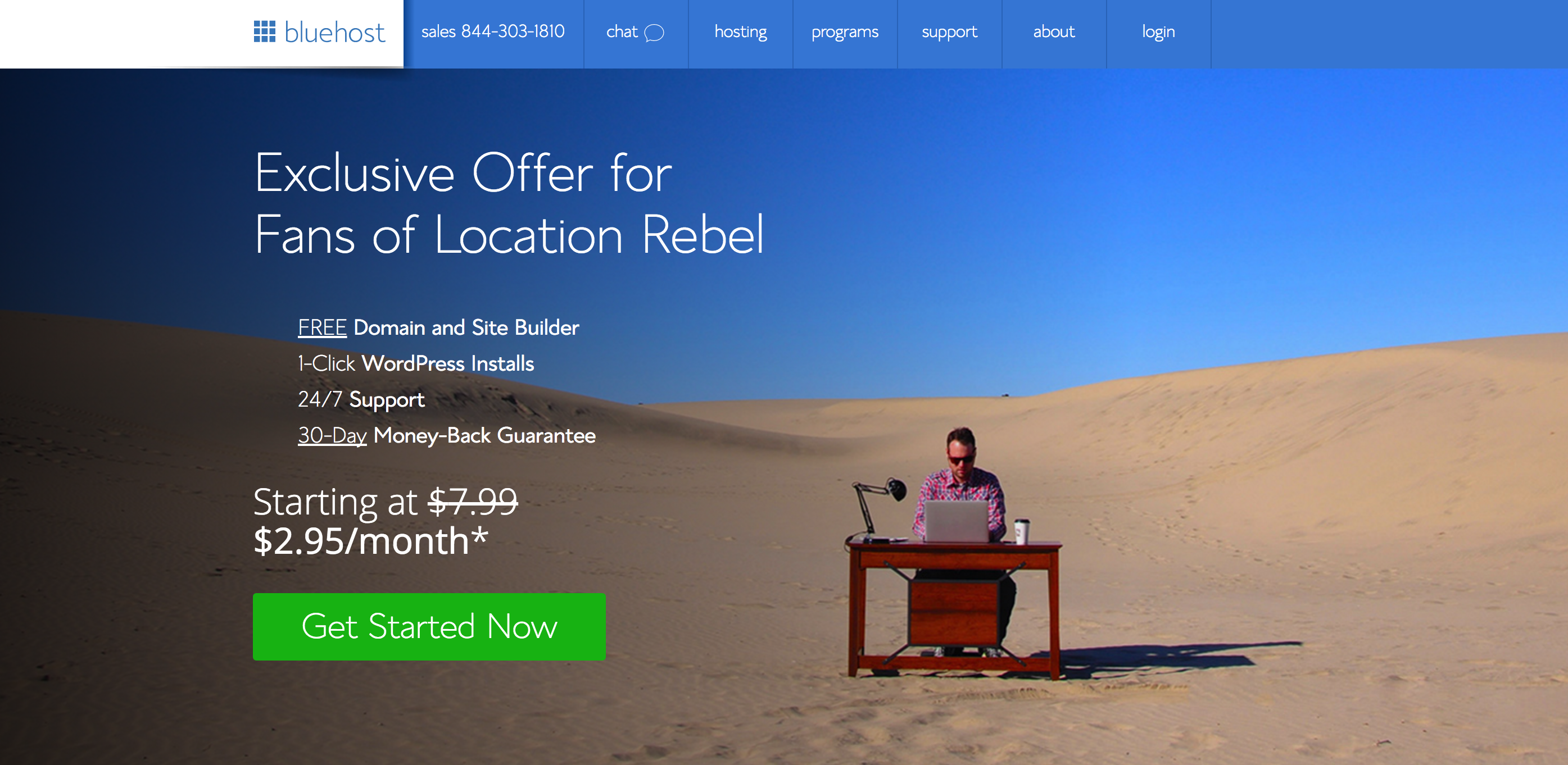 Best Hosting Service - Bluehost for Location Rebel Readers