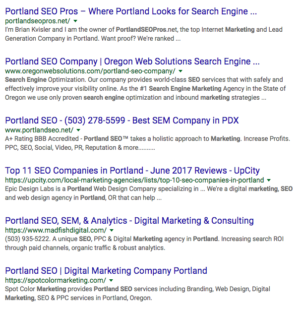 local seo writing search