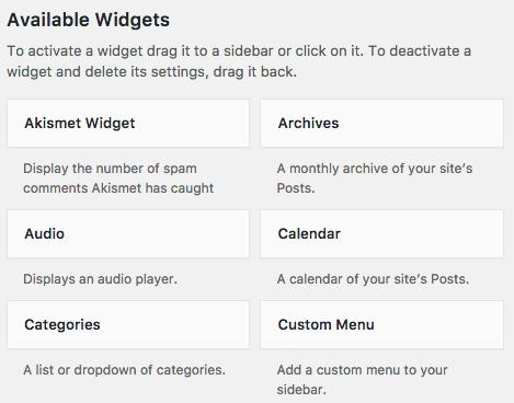 widgets 2