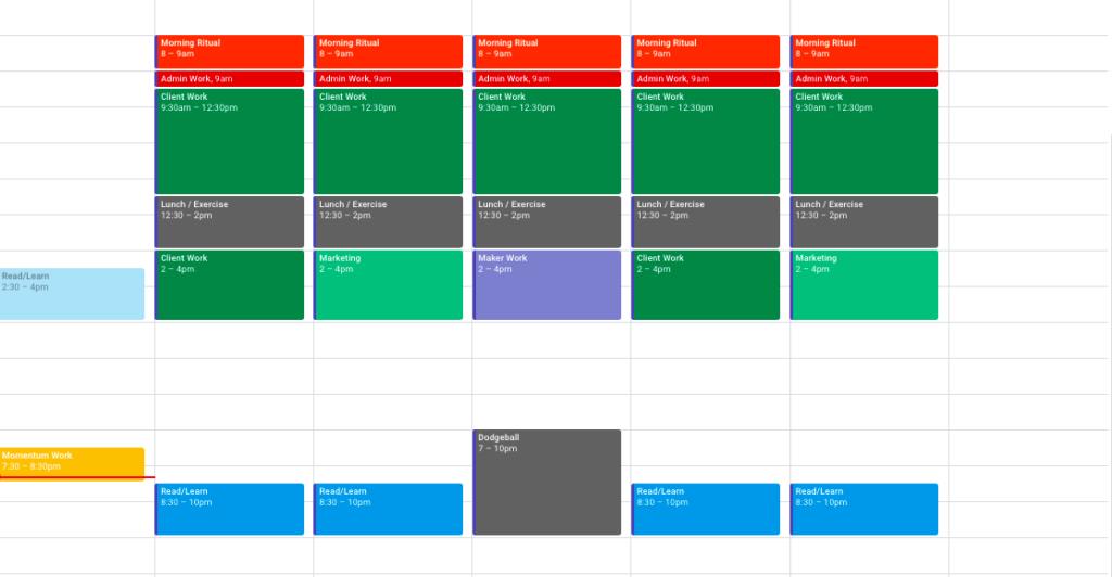 block calendar