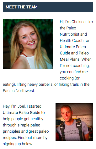 ultimate paleo guide team