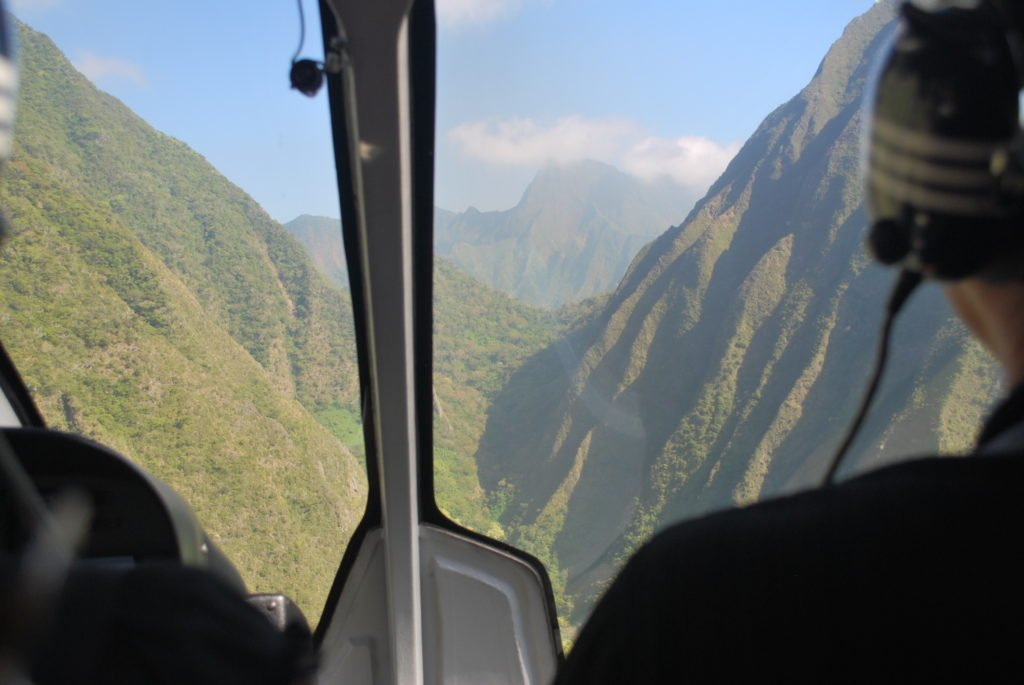 Sunset helicopter tour on Maui