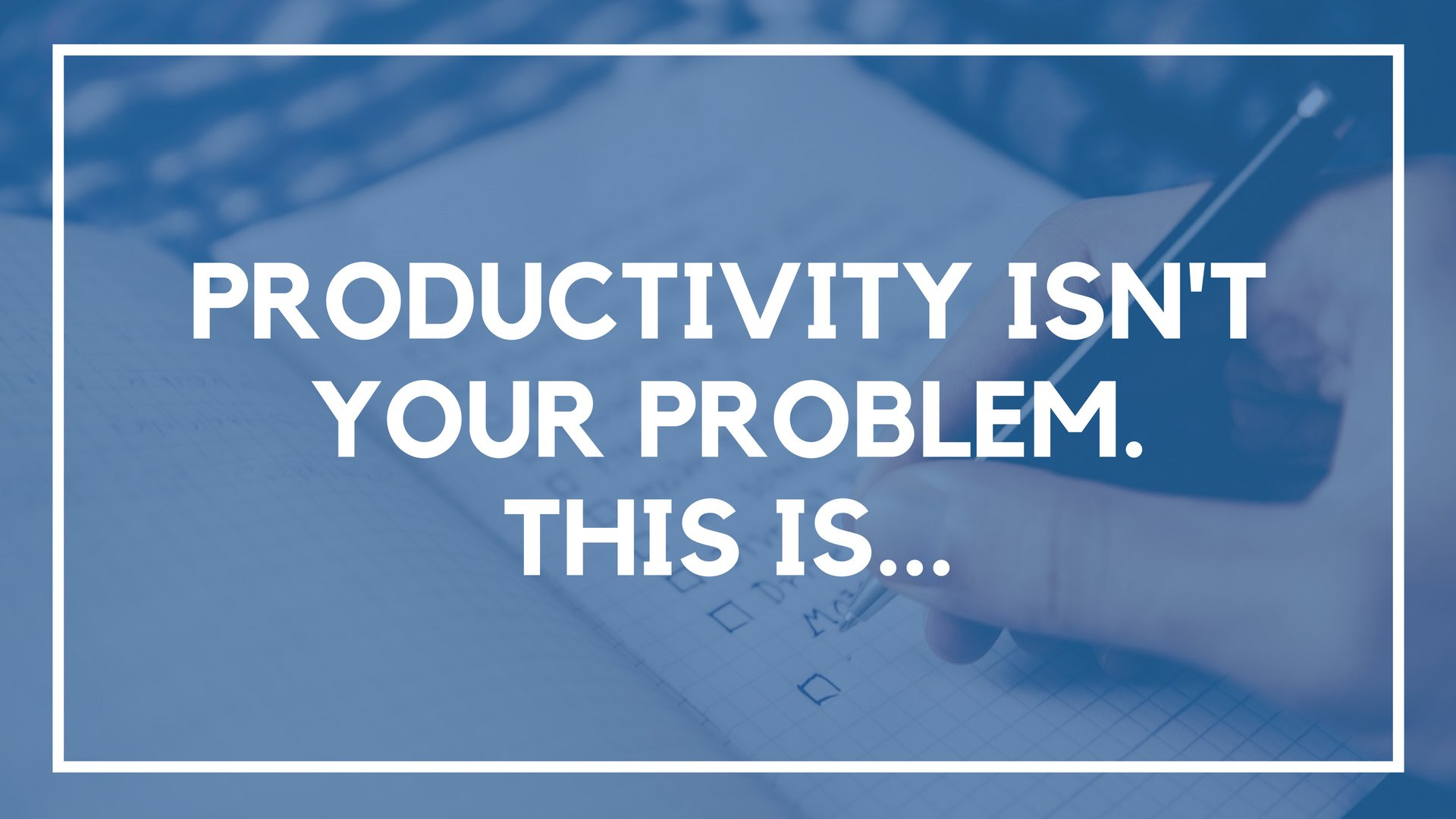 Productivity Isn't the Problem. This Is…