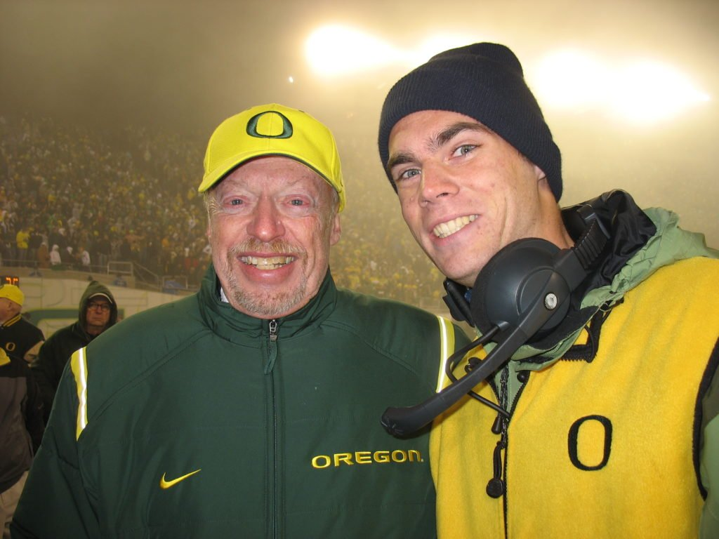 Phil Knight at Autzen Stadium