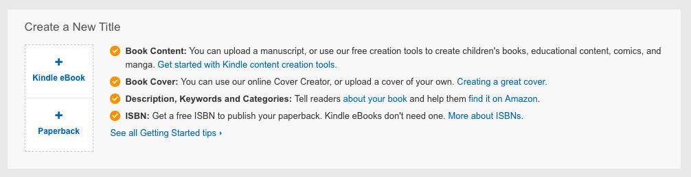 amazon kdp publishing