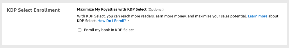 amazon kdp vs kdp select
