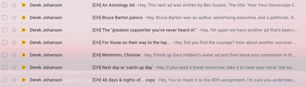 copyhour emails