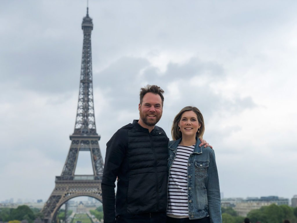 Courtney and Sean at Eiffel Tower