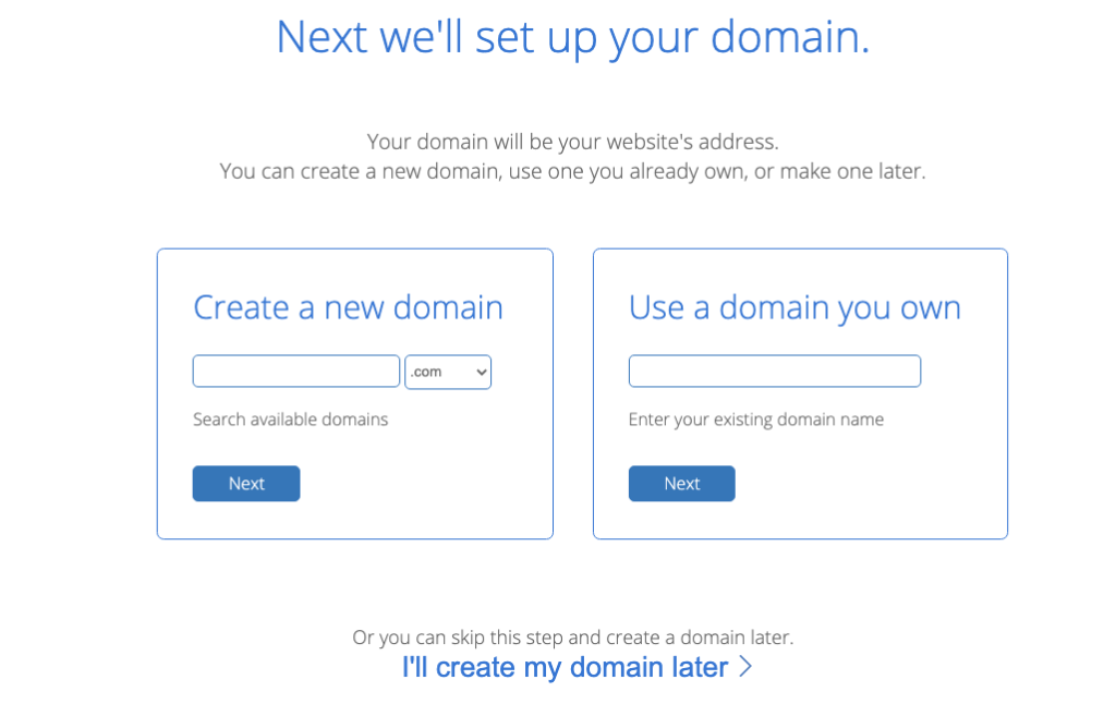 how to start a blog domain name bluehost