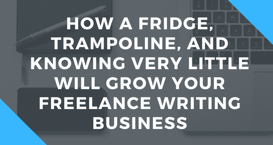 How a Fridge, Trampoline, and Knowing Very Little Will Grow Your Freelance Writing Business